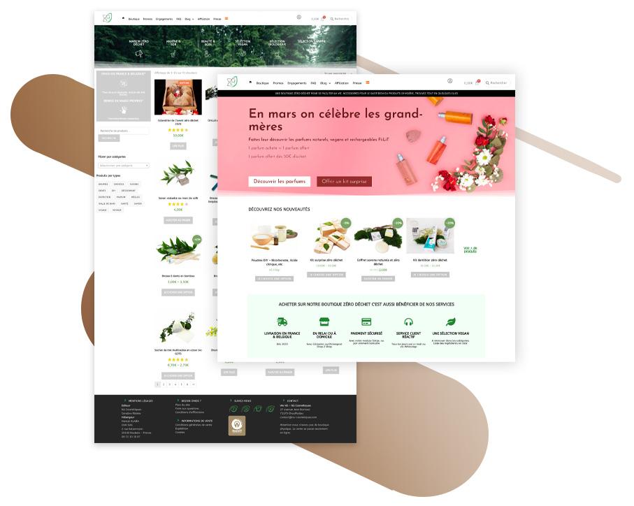 Illustration eshop création de site web